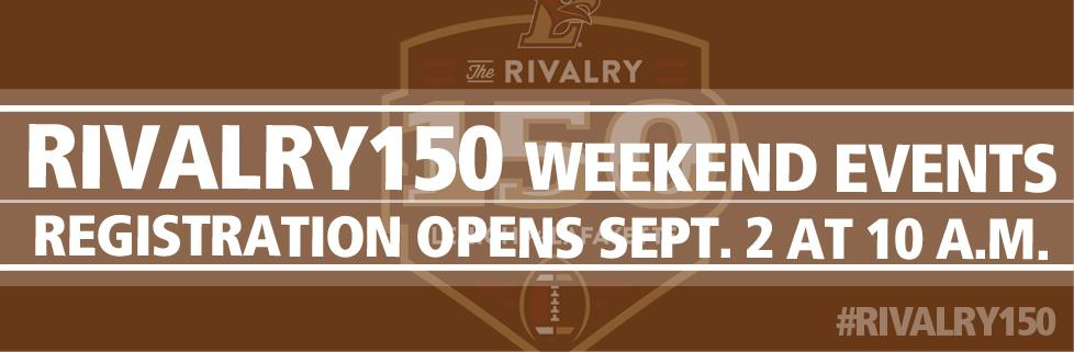 Don't miss out on the Rivalry 150 Weekend events