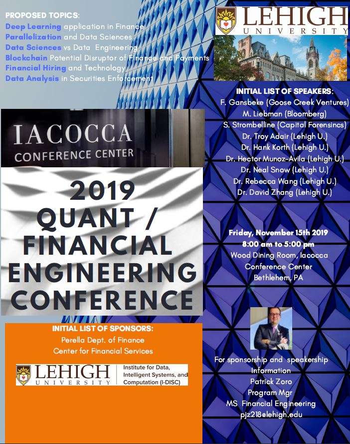 Lehigh University - 2019 Quant Financial Engineering Conference